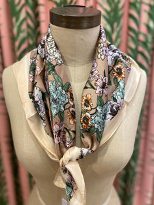Floral Bouquet Scarf in Mauve Combo