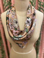 Load image into Gallery viewer, Floral Bouquet Scarf in Mauve Combo