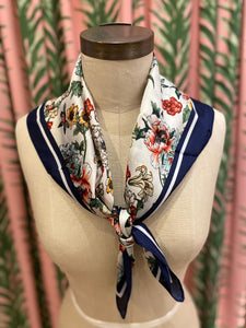 Floral Bouquet Scarf in White Combo
