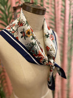 Load image into Gallery viewer, Floral Bouquet Scarf in White Combo