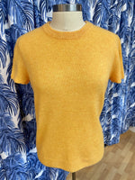 Load image into Gallery viewer, Cashmere Tee in Marigold Melange