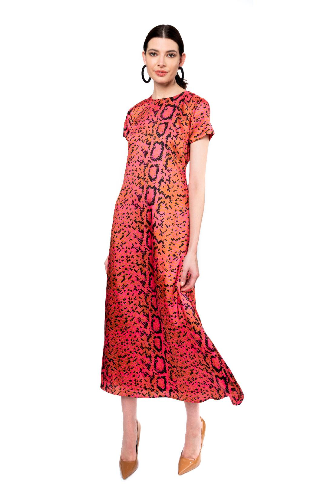 Terrence Maxi Dress in Pink Santana