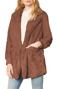 Swirl Next Door Jacket in Toffee