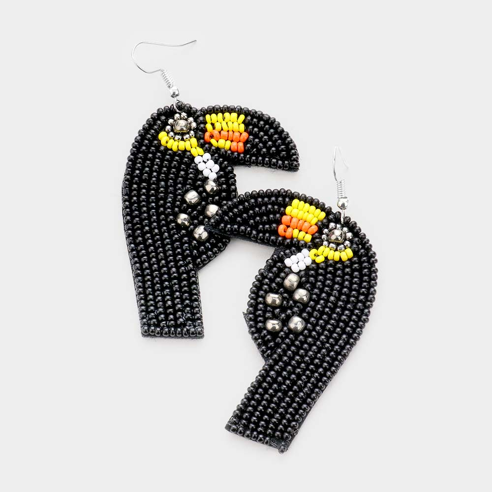Toucan Beaded Earring