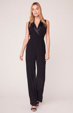 Load image into Gallery viewer, Tuxedo Jumpsuit in Black