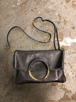 Load image into Gallery viewer, Twiggy Italian Leather Cross Body Bag in Anthracite