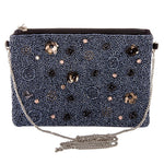 Load image into Gallery viewer, Beaded Floral Sequin Handbag in Hematite
