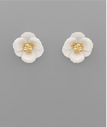 Load image into Gallery viewer, Small Flower Stud with Gold Center in Mint
