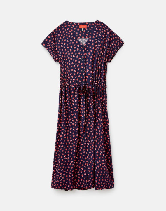Yasmine Dress in Navy Strawberry