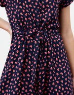 Load image into Gallery viewer, Yasmine Dress in Navy Strawberry