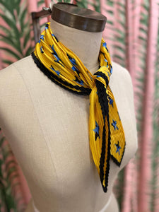 Pleated Scarf in Yellow Star