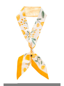 Skinny Scarf in Yellow Floral