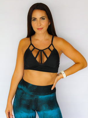 Caged Front Sports Bra
