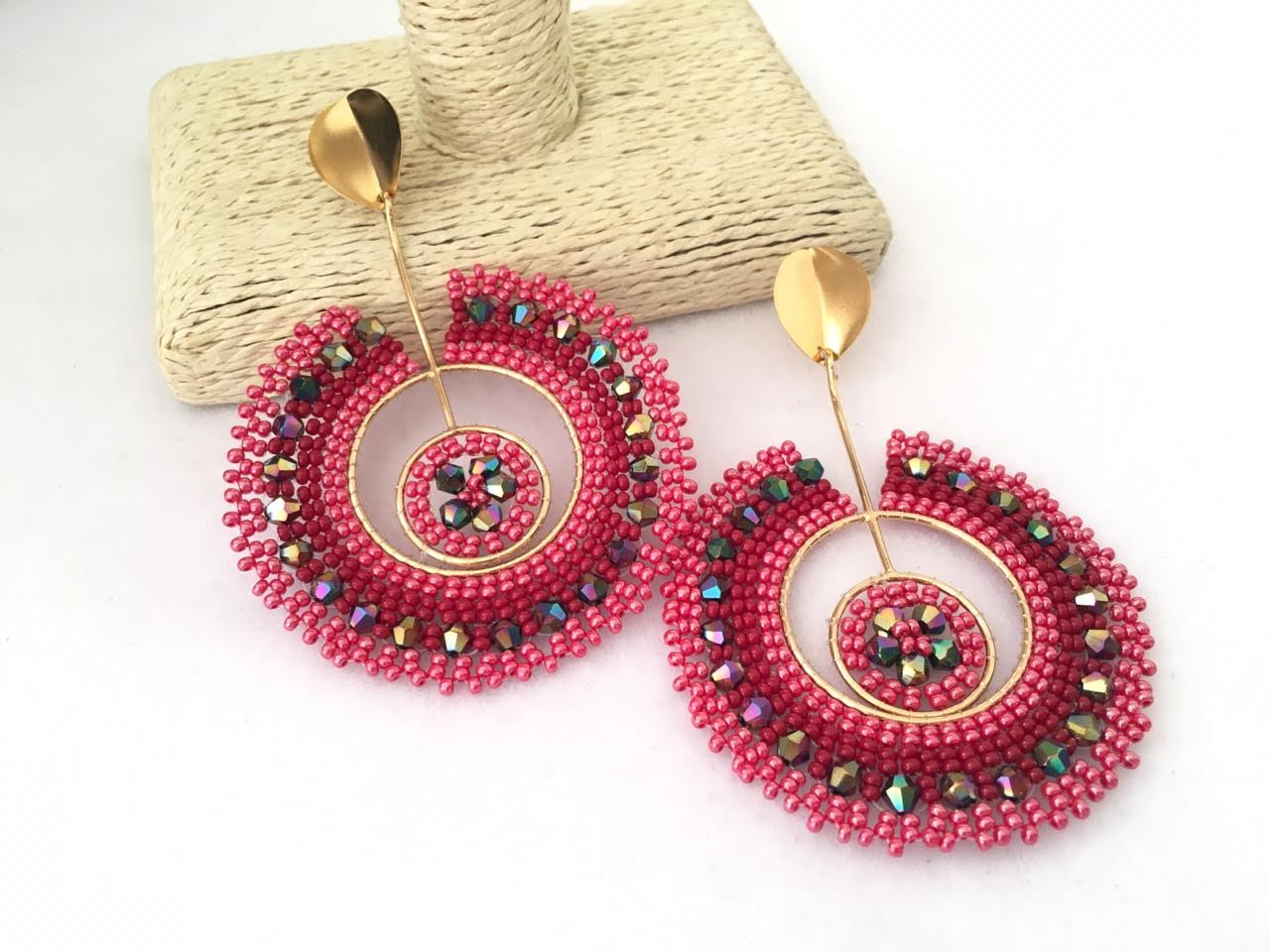 Red Tear Earrings