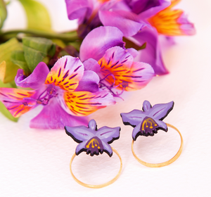 Orchid Ring Earrings