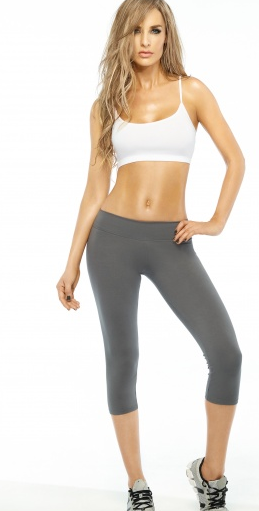 Grey Basic Capri