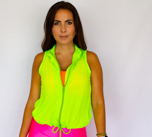 Zipper Vest Top