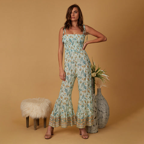 floral jumpsuit with wide legs