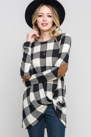 Marlam Checkered Twist Top