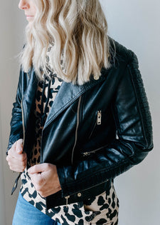 Carmichael Faux Leather Moto Jacket