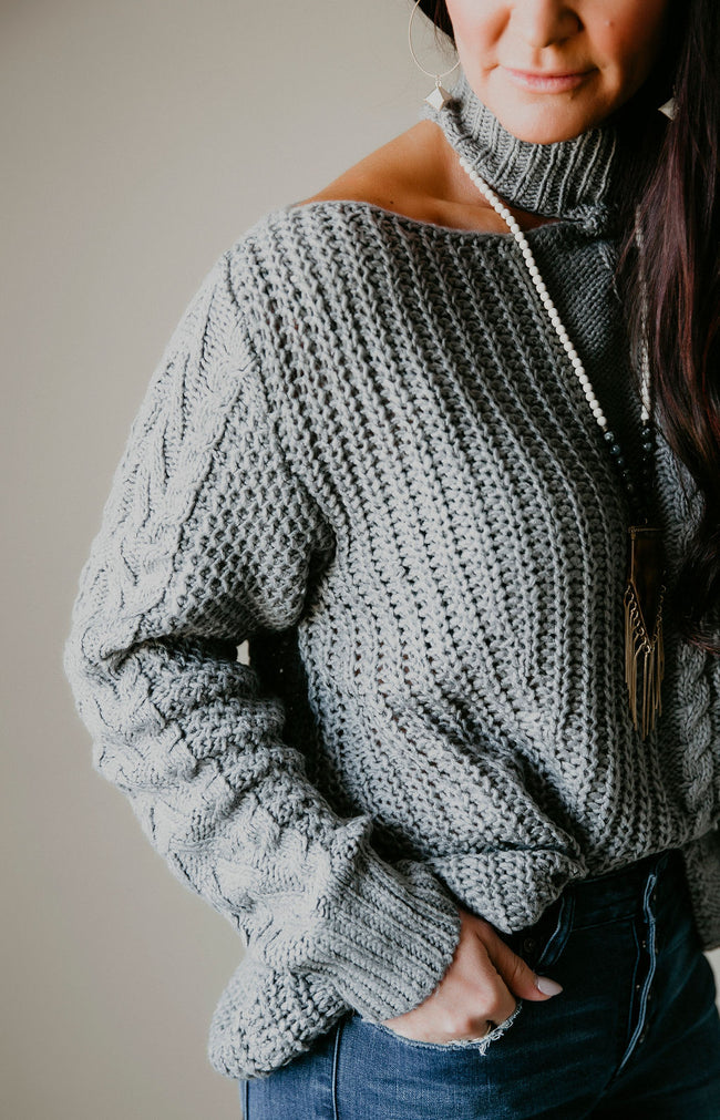Karson Cable Knit Sweater
