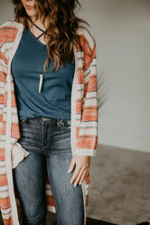 Magna Striped Duster Cardigan-FINAL SALE