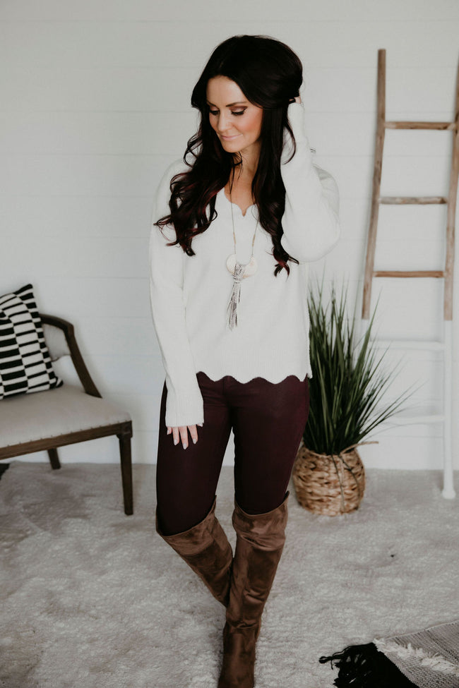 Tayen Scalloped Sweater