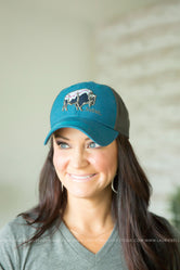 Teal SoDak Buffalo Hat