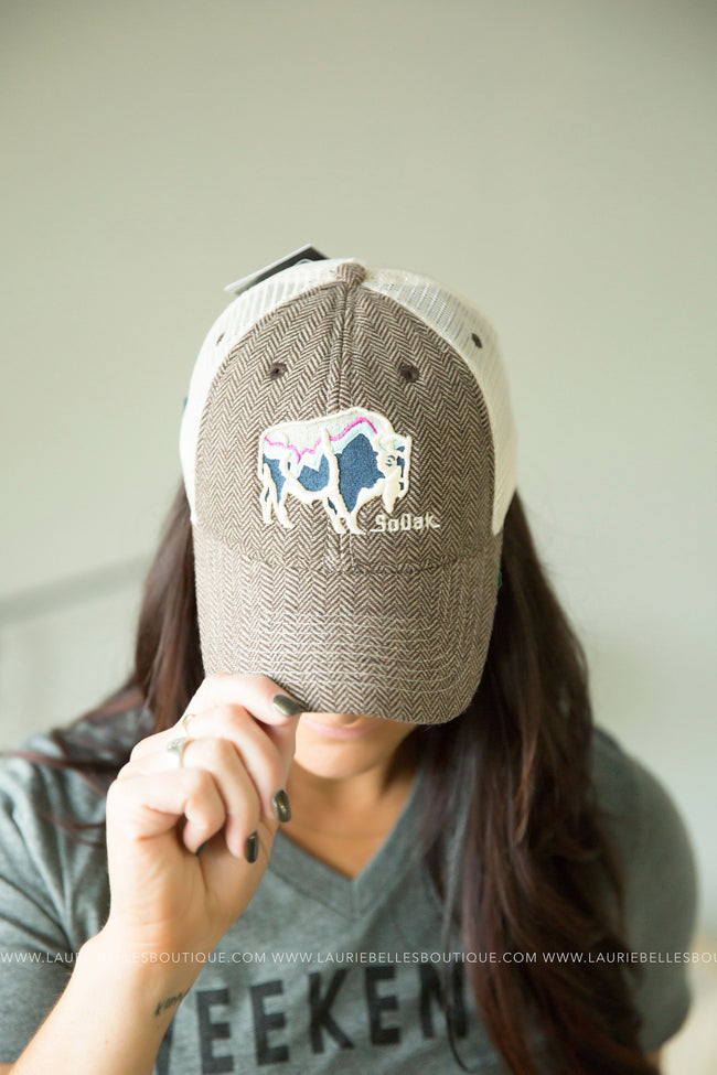 Brown SoDak Buffalo Hat
