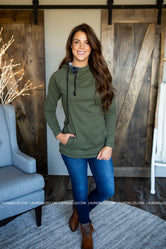 Evergreen and Plaid Double Hoodie