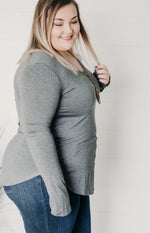 Curvy Tee For You V-Neck Top