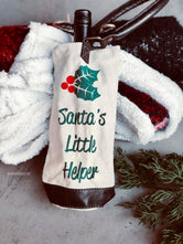 Santa's Little Helper Wine Bag