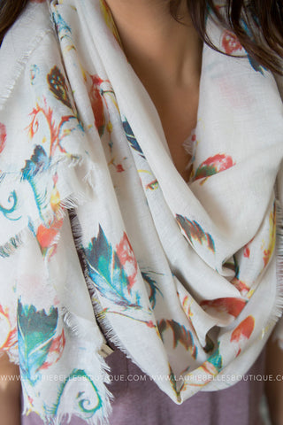 Multicolor Feather Lightweight Scarf