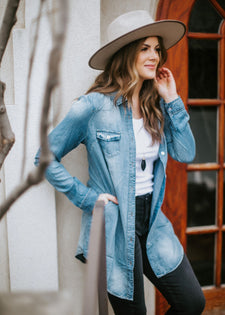 Bennett Button Down Denim Tunic