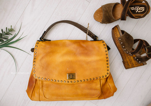 Studded Handbag w/ Wallet (Two Colors)