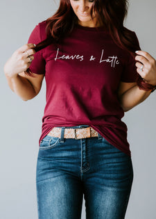 Leaves & Latte Tee