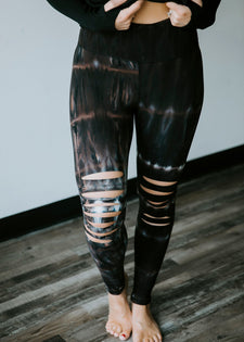 Fit For Life Distressed Leggings