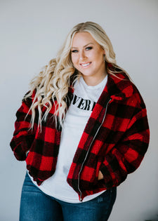 Hayes Plaid Sherpa Jacket