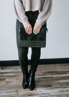 Simply Studded Oversized Clutch
