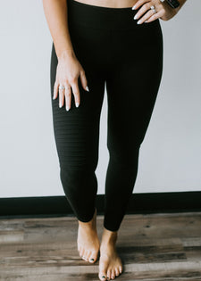 Mission Accomplished Moto Leggings