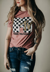 Checkered Retro Graphic Tee