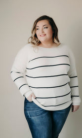 Curvy Beki Stripe Sweater
