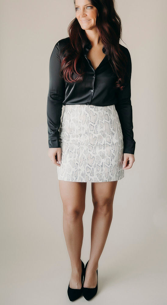 Out Of HISSS League Suede Skirt