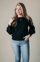 Own Knit Girl Off Shoulder Sweater