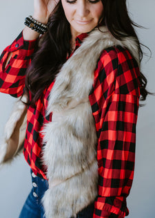 Nothing Compares Faux Fur Vest