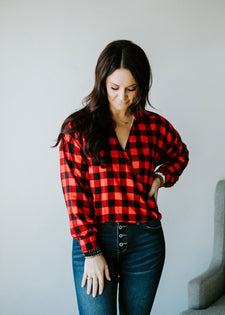 Beckham Buffalo Check Blouse FINAL SALE