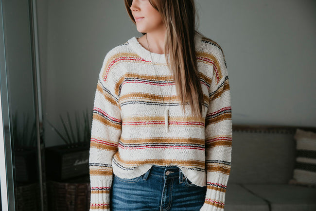 Designed To Align Striped Sweater