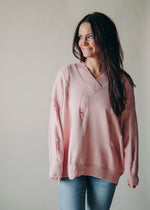 More To Love Distressed Sweater