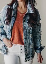 Cut It Out Denim Jacket