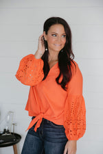 Chaly Balloon Sleeve Top